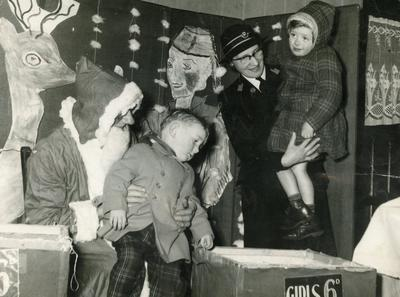 Children meeting Father Christmas