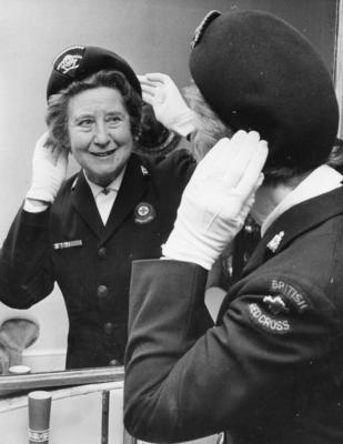 Mrs Olive Smith, Commandant of Clacton Red Cross
