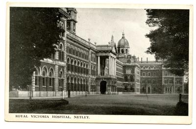 Postcard featuring an external view of the Royal Victoria Hospital Netley, Hampshire; 0324/IN7066