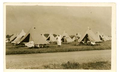 Postcard featuring Red Cross field hospital in Netley, Hampshire. July 1916