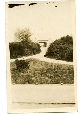 Postcard featuring the Red Cross Hospital Entrance from a distance. Netley, Hampshire 1916; 0324/IN7080