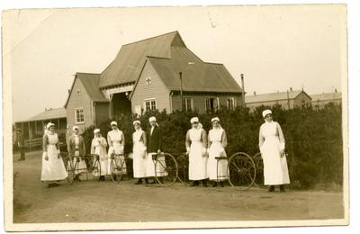 'Nurses of Welsh Hospital March 1917'; 0324/IN7092