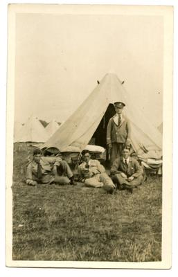 'Four patients camping'; 0324/IN7101