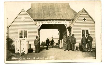 'Main Gate, B.R.C. Hospital Netley'