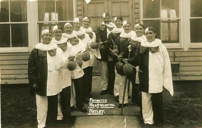 'Red Cross Hospital: Patients Christmas 1916'