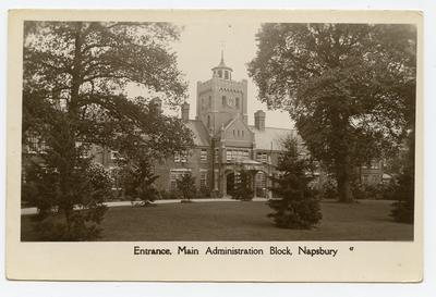An external view of the Main Administration Block, Napsbury.; 0324/IN7162