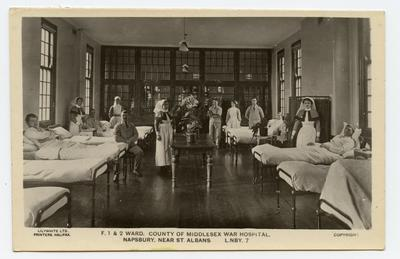 'F.1 and 2 Ward, County of Middlesex War Hospital, Napsbury'