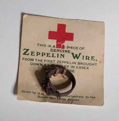 Finger ring made from the wire of a First World War Schütte-Lanz airship