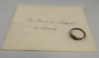 Garnet and diamante ring