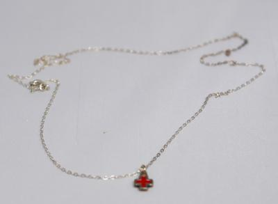 Souvenir Red Cross emblem necklace