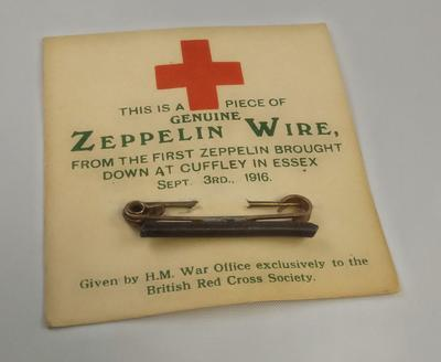 Pin brooch made from Zeppelin