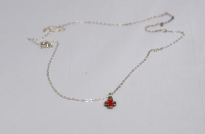 Necklace with Red Cross emblem pendant