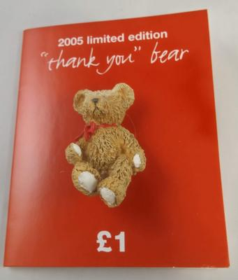 'Thank you' bear badge: Red Cross Week 2005