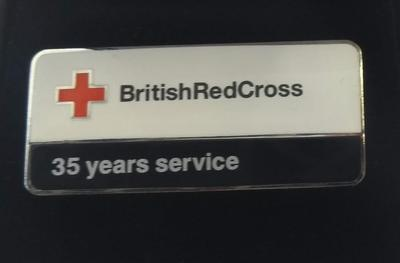 British Red Cross 35 Years Service Badge