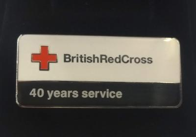 British Red Cross 40 Years Service Badge