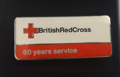 British Red Cross 80 Years Service Badge