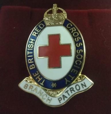 British Red Cross Society Branch Patron Badge