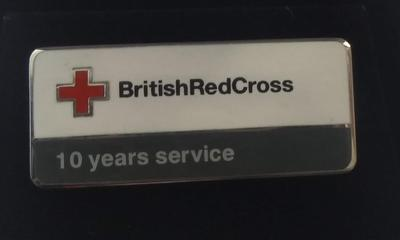 British Red Cross 10 Years Service Badge