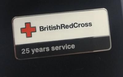 British Red Cross 25 Years Service Badge