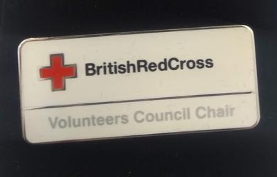 British Red Cross Volunteers Council Chair badge