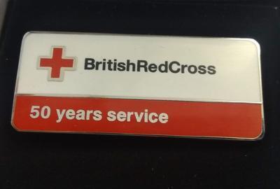 British Red Cross 50 Years Service Badge