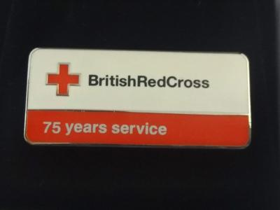 British Red Cross 75 Years Service Badge