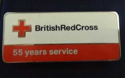 British Red Cross 55 Years Service Badge