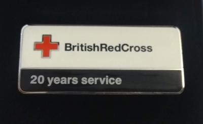 British Red Cross 20 Years Service Badge