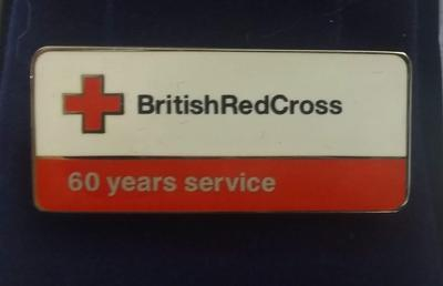 British Red Cross 60 Years Service Badge