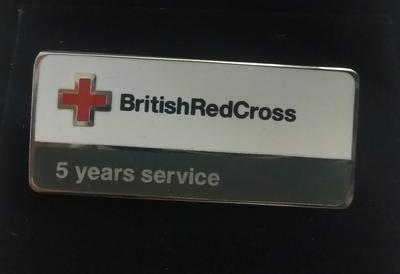British Red Cross 5 Years Service Badge