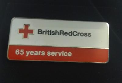 British Red Cross 65 Years Service Badge