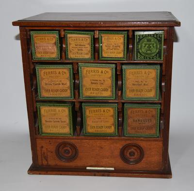 Wooden medicine chest