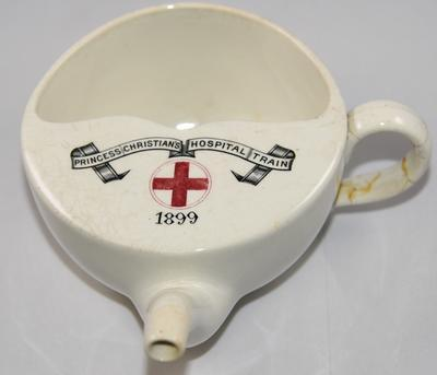 Feeding cup: 'Princess Christian's Hospital Train 1899'