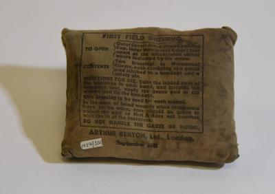 First Field Dressing, Arthur Berton Ltd Sept 1942