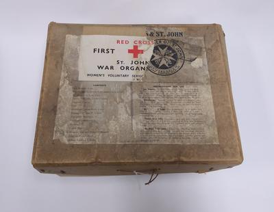 Joint War Organisation (JWO) and Women's Voluntary Service (WVS) First Aid Kit; Medical Equipment/first aid kit; 1120/1