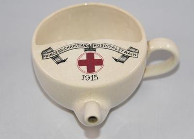 Feeding cup from Princess Christian's Hospital Train, 1915