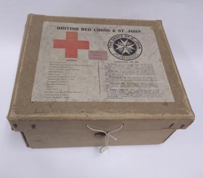 British Red Cross and Order of St John Joint War Organisation First Aid Kit Box