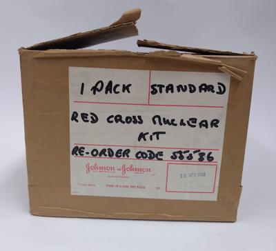 Standard Red Cross Nuclear kit in cardboard box