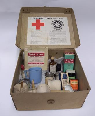 British Red Cross and Order of St John Joint War Organisation First Aid Kit