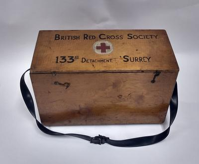 British Red Cross Society wooden first aid kit