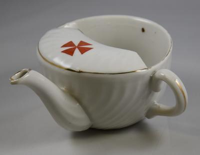 China feeding cup with Maltese style cross