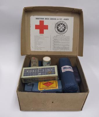British Red Cross and Order of St John Joint War Organisation First Aid Kit; Joint Committee of the Order of St John and the British Red Cross Society; Medical Equipment/first aid kit; 324/17
