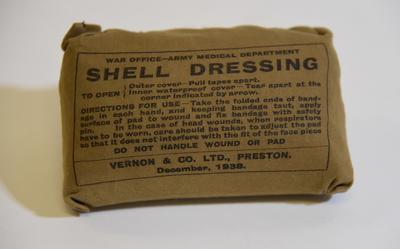 War Office - Army Medical Department shell dressing