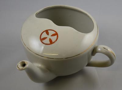 Large feeding cup with curved Maltese Cross