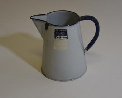 Two-pint, enamel jug