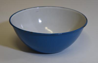 Collection of large, enamel wash bowls