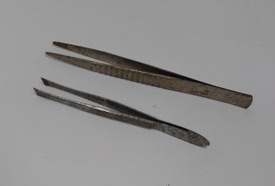 Two pairs of tweezers