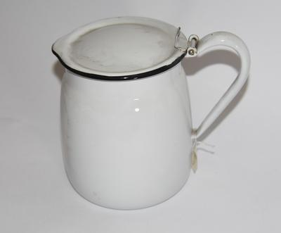 Enamel jug with lid