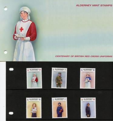 First Day cover for the centenay of British Red Cross uniforms
