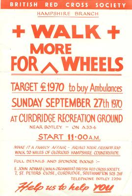 'Walk for More Wheels' - Fundraising Leaflet
